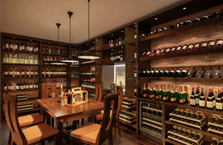 The goal of the project is to design the interior of the office for tasting and selling Slovak wines.